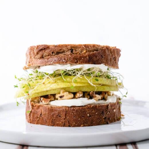 Pear Walnut Fruit Sandwich