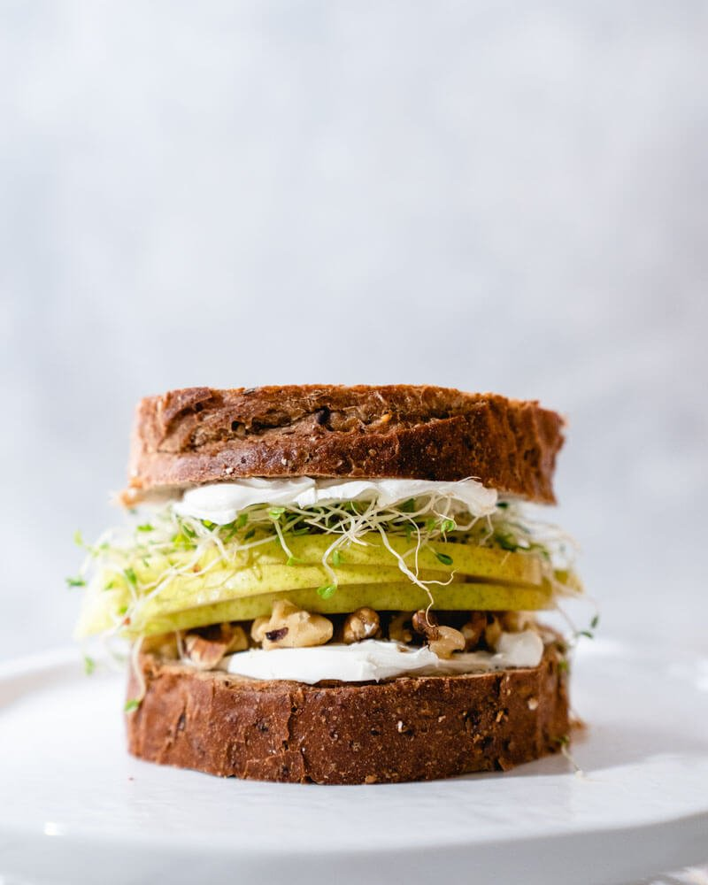 Pear Walnut Fruit Sandwich