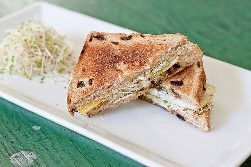 Pear and Walnut Sandwiches