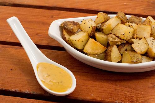 easy honey mustard potatoes