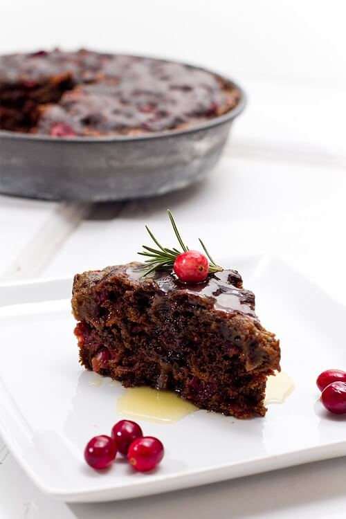 Christmas pudding | Cranberry pudding with butter sauce