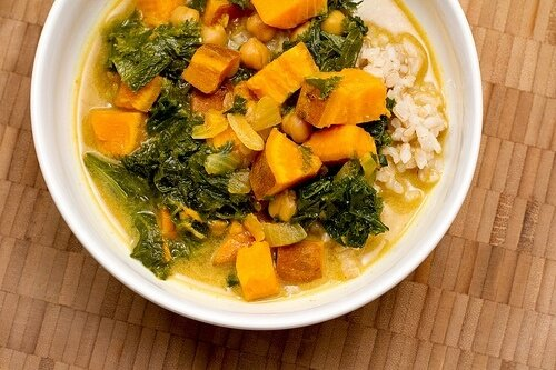 Kale, Chickpea, & Sweet Potato Stew