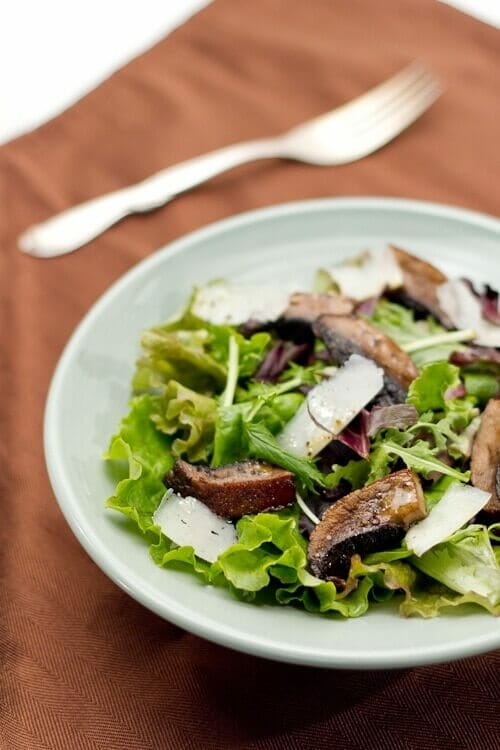 Mixed Green Salad with Roasted Portabellos