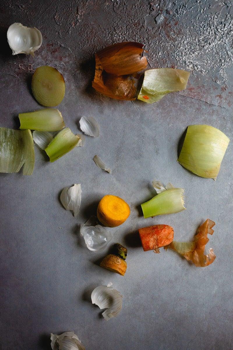 Homemade Vegetable Broth | Vegetable scraps