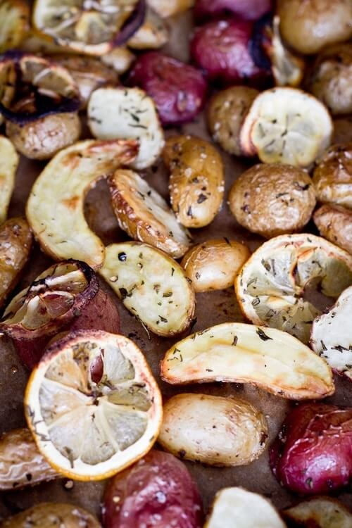 Roasted Fingerling and New Potatoes with Rosemary