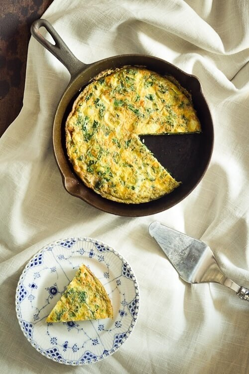 Kale and Artichoke Frittata