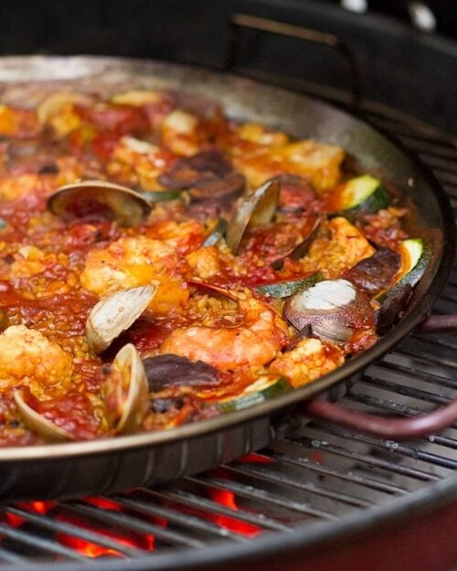 Grilled Paella Recipe