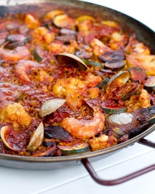 Simple grilled paella a couple cooks simple grilled paella forumfinder Choice Image