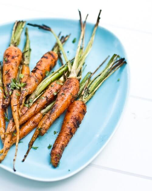 Grilled Carrots with Lime and Cilantro