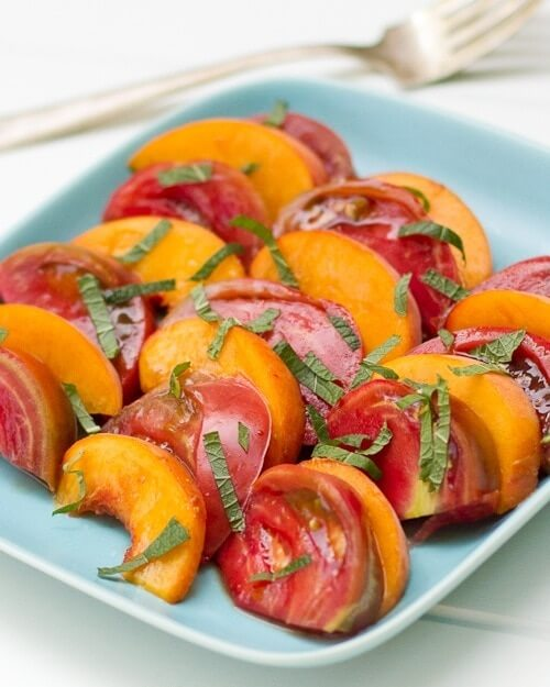 Heirloom Tomato and Peach Salad