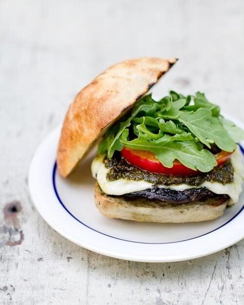 Pesto Portobello Mushroom Burger