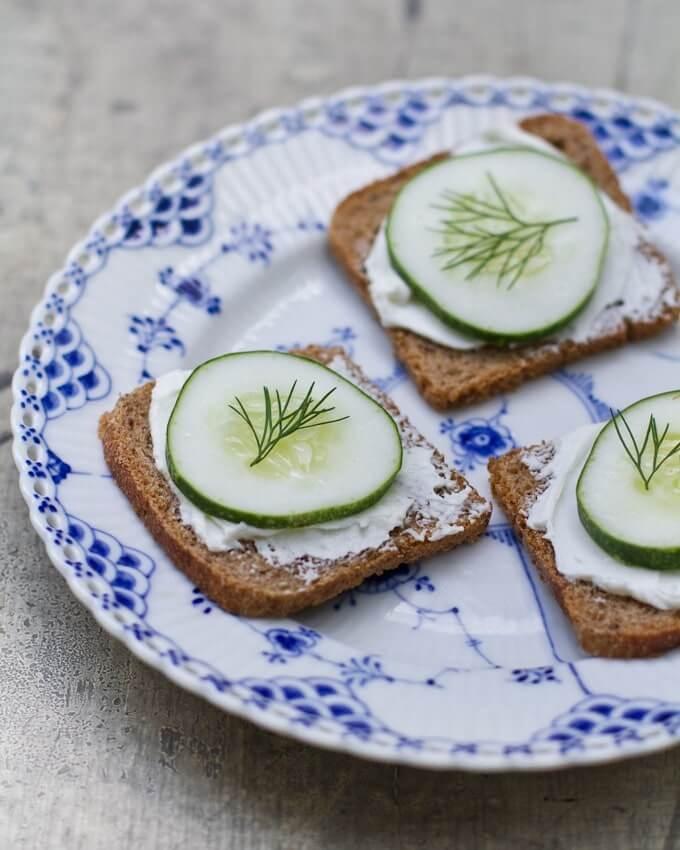 Cucumber Rye Toasts