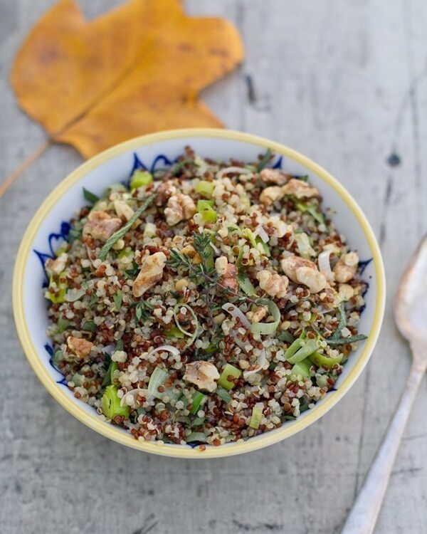 Quinoa with Leeks and Herbs
