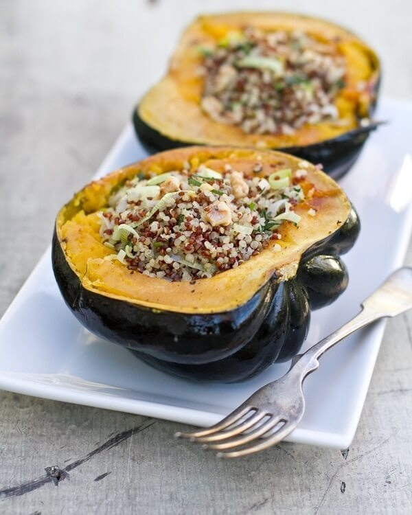 Stuffed Acorn Squash with Quinoa and Herbs