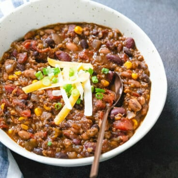 Easy Vegetarian Chili to win a chili cookoff