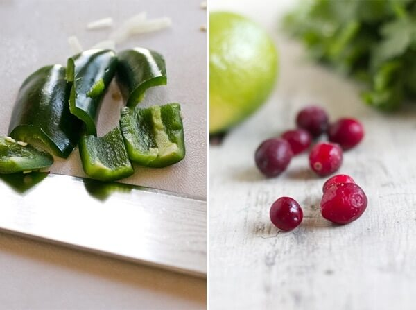 jalapeno pepper and cranberries