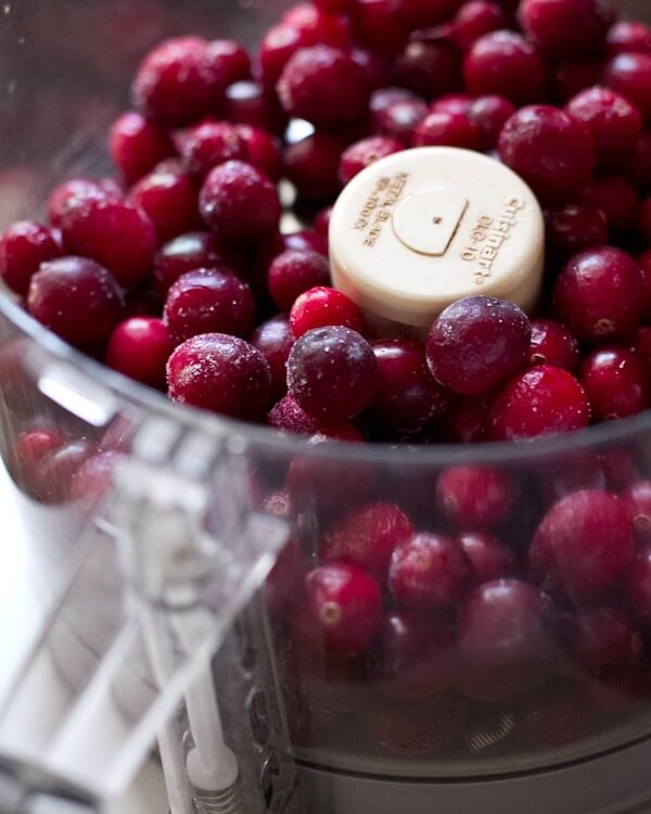 cranberries in a food processor