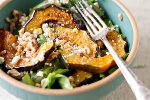 Squash salad with farro