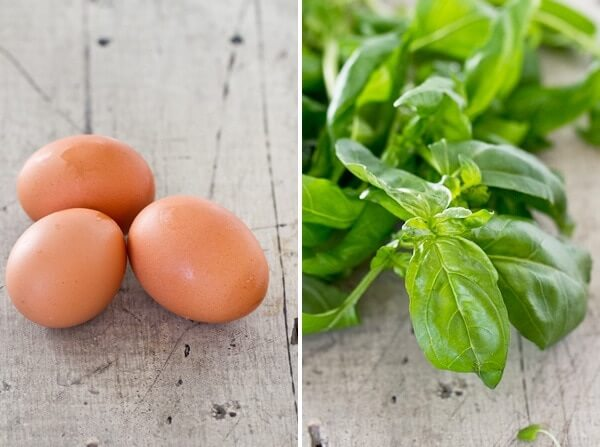 Healthy egg salad with basil | Eggs and basil