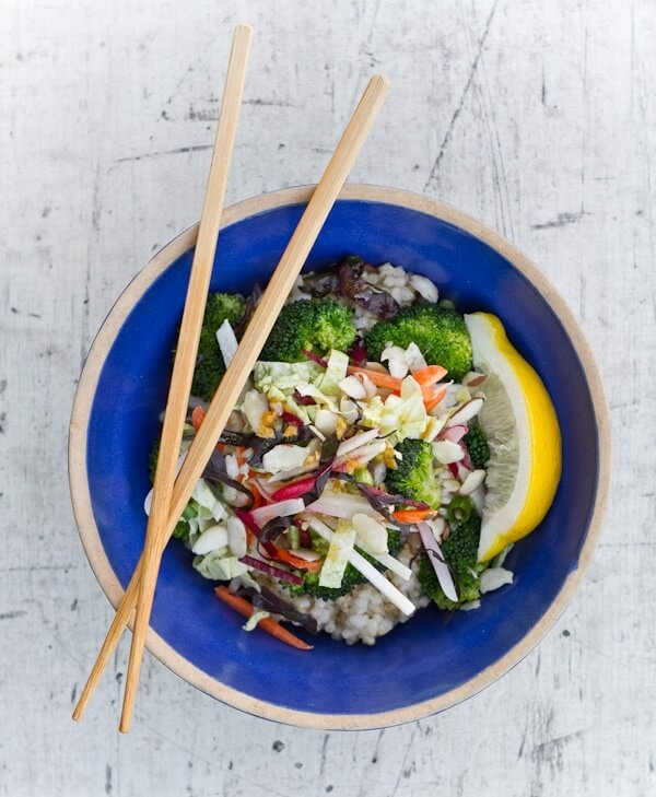 Asian Rice Bowl with Fresh Vegetables