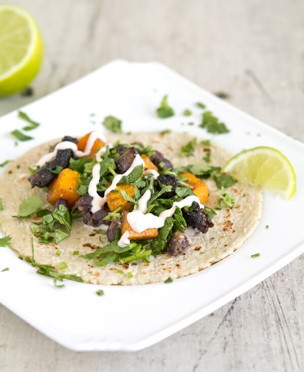Roasted Squash and Portabello Tacos