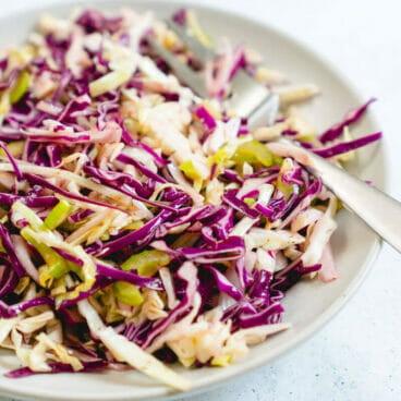 Vinegar Coleslaw Recipe | Healthy Coleslaw Recipe