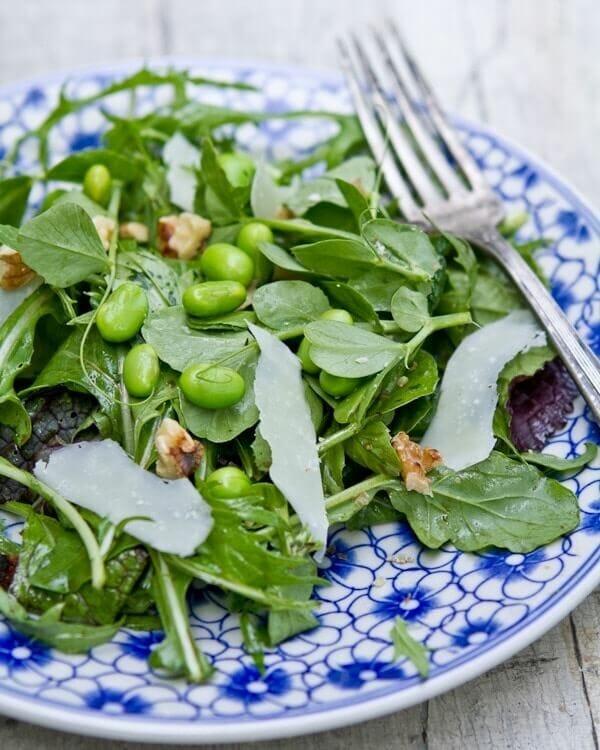 Pea shoots recipe | pea shoot salad