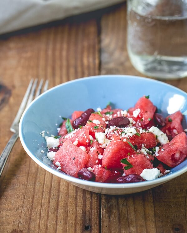 Watermelon, Kidney Bean and Feta Salad