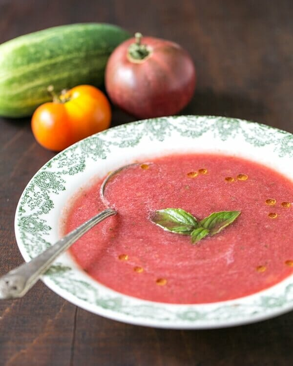 Watermelon Gazpacho | a Couple Cooks