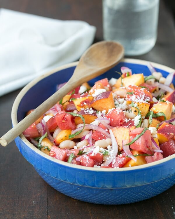 Tomato & Peach Salad with Basil