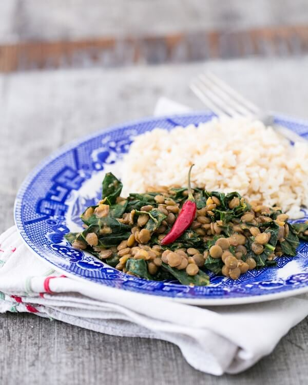 Coconut Curry Lentils with Kale