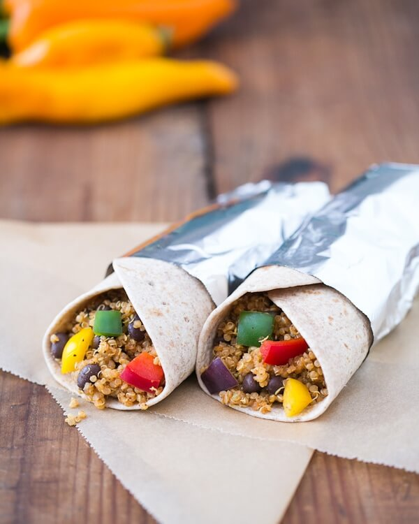 Black Bean Quinoa Burritos