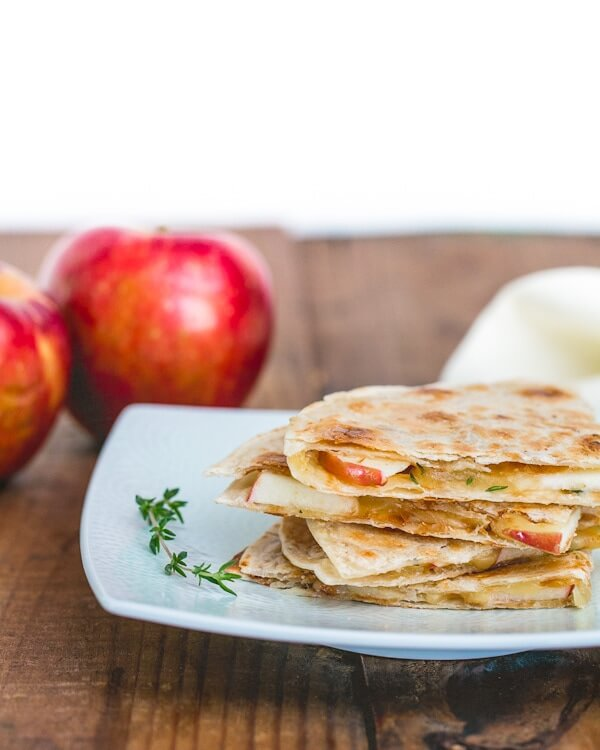 Quesadilla ideas | Apple and gouda quesadillas