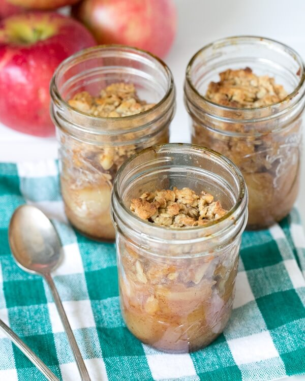 Honey Almond Apple Crisps in Jars