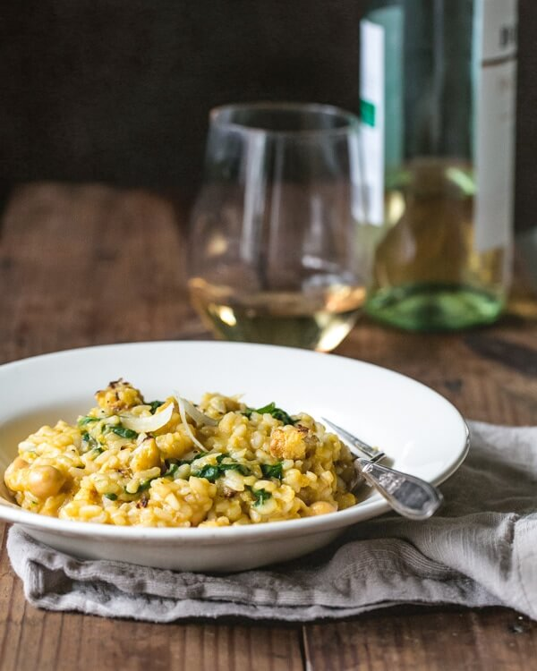 Roasted Cauliflower Risotto