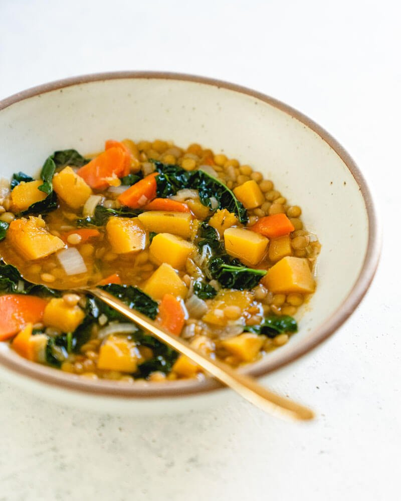 Butternut squash lentil soup | Superfood soup