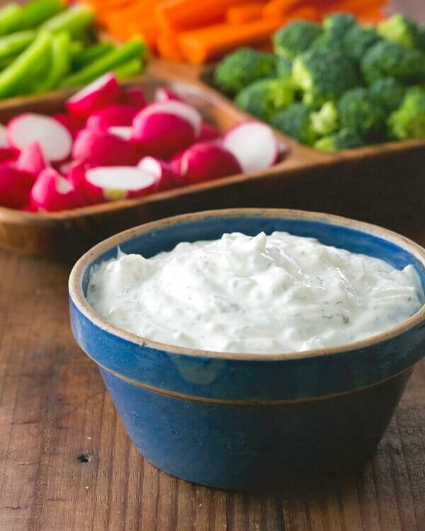 Greek Yogurt Vegetable Dip