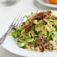Shaved Brussels Sprouts with Tahini Dressing