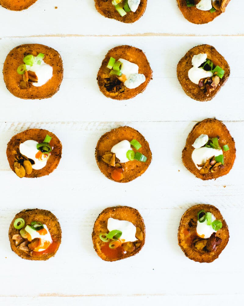Healthy Loaded Sweet Potato Rounds
