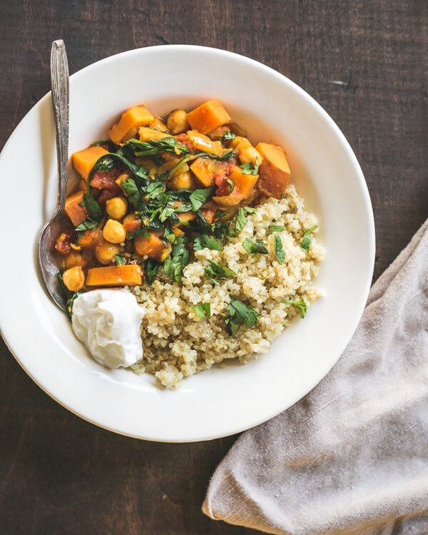 Moroccan Chickpea and Sweet Potato Stew