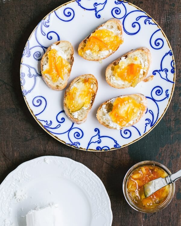Goat Cheese and Citrus Marmalade Crostini