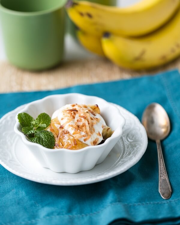 Baked Bananas with Toasted Coconut