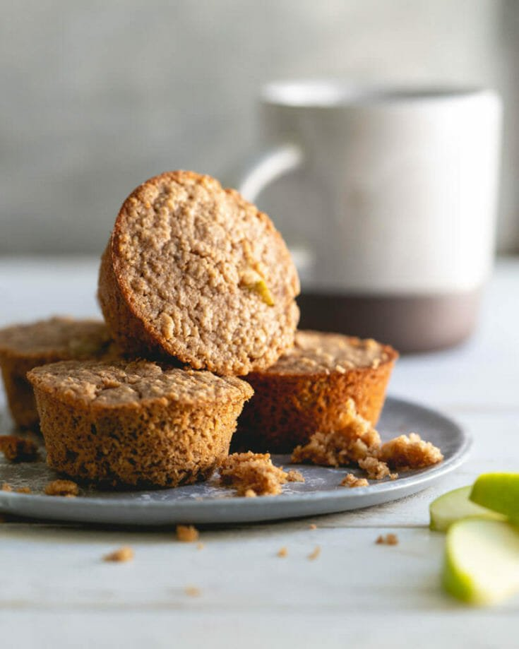 Gluten Free Muffins with Apples and Oats