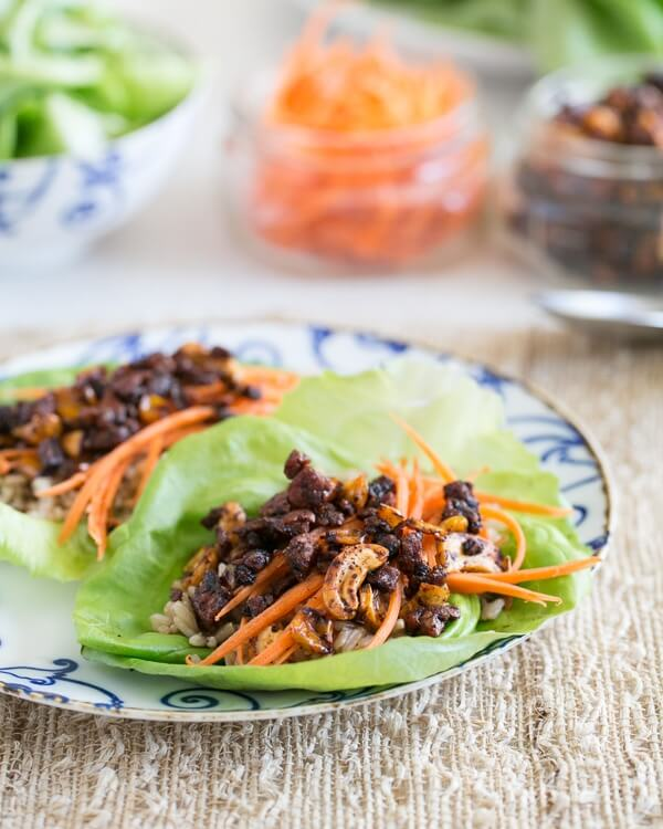 Vegan Lettuce Wraps | Healthy lettuce wraps