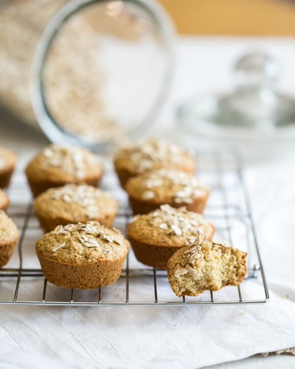 Oatmeal Muffins [Gluten Free] | a Couple Cooks