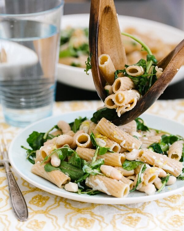 Lemon Arugula Rigatoni Pasta Recipe