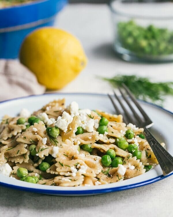 Farfalle Pasta with Peas, Feta, and Dill