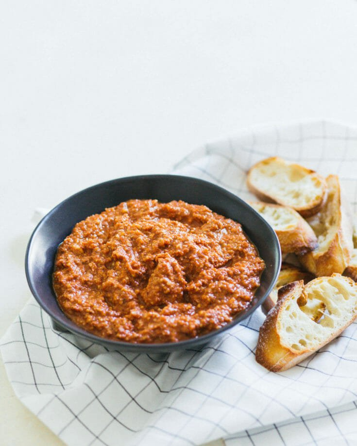 Famous Tomato Dip with Grilled Bread