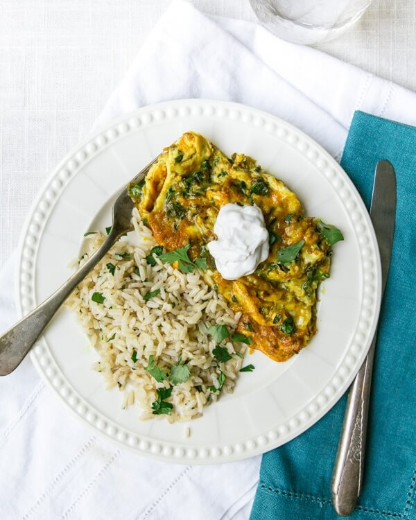 Herbacious Eggs and Cilantro Lime Rice