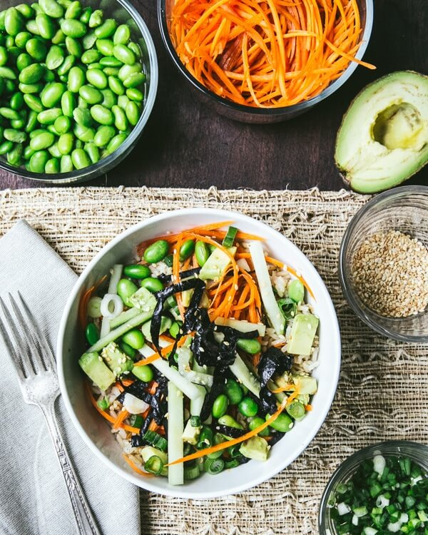 Vegetable Sushi Bowl | a Couple Cooks